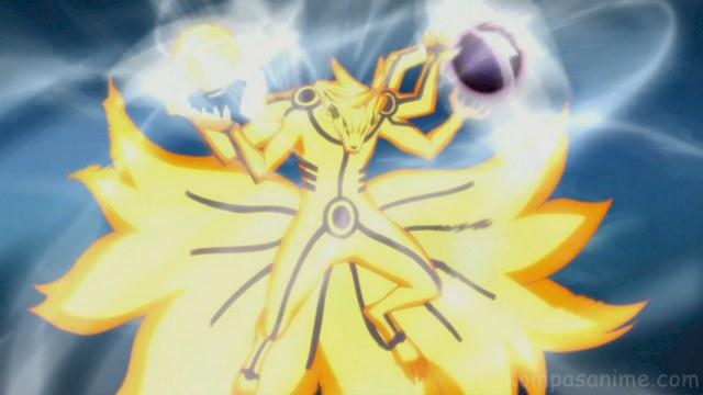 Jutsu terkuat milik Naruto untuk mengimbangi kekuatan panah Indra dari Susanoo Sasuke