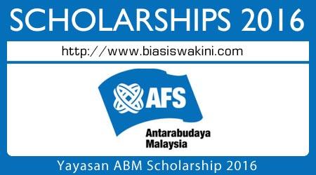 Yayasan ABM Scholarship 2016