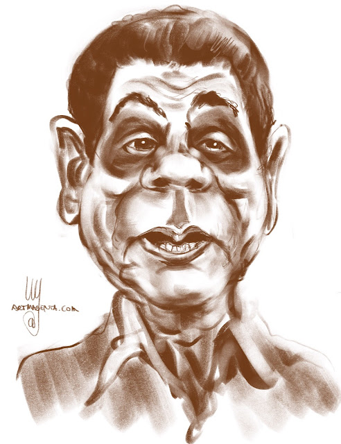 Duterte Caricature drawing by Artmagenta