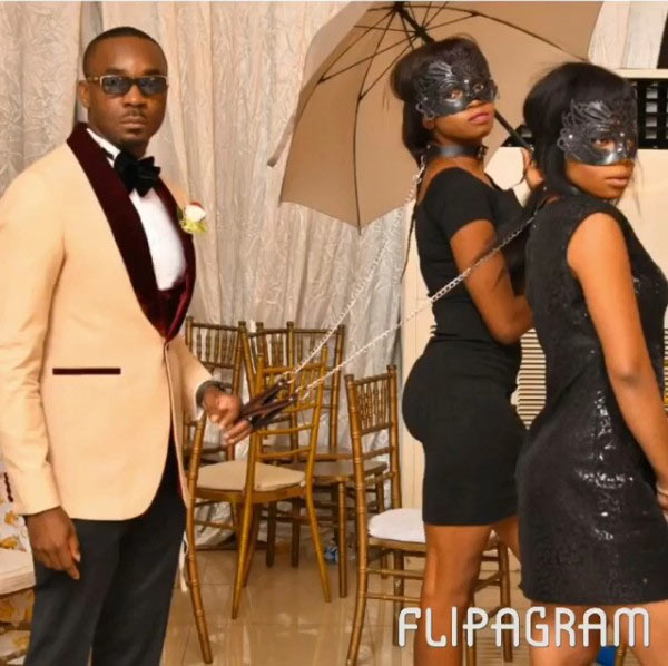 Pretty Mike who? Check out popular Nigerian politician who puts girls on a leash