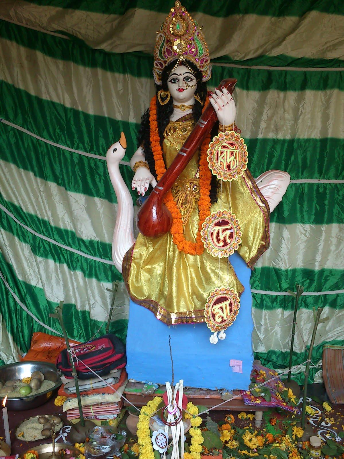 kolkata blog saraswati puja bengal