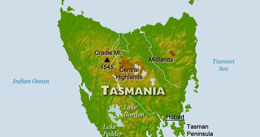 Tasmania Map Pictures | Map of Australia Region Political