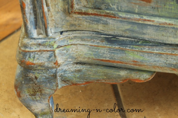 Dreamingincolor French Painted Patina Night Stand Chalk
