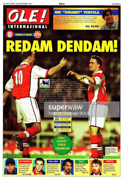 DENNIS BERGKAMP AND OVERMARS ARSENAL 1998