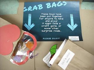 grab bags sign and samples