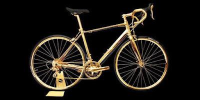 بالصور دراجة هوائية من الذهب للاثرياء فقط