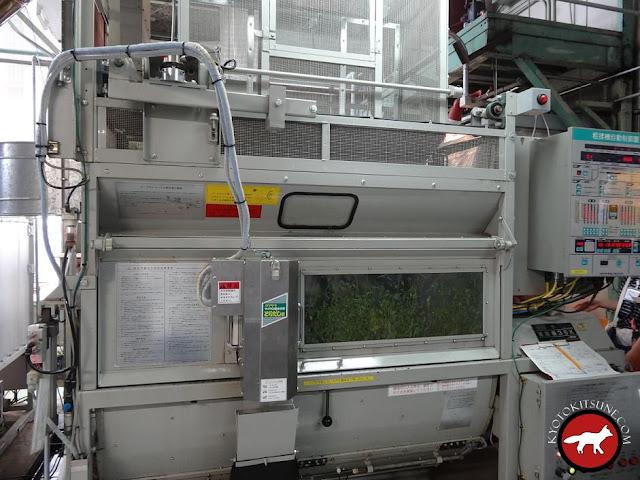 Machine de séchage du thé vert de Kyoto