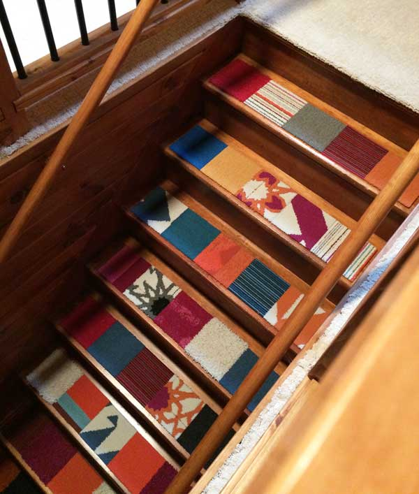 Carpet Tile At Flor: Honey I Shrunk The House: FLOR Carpet Tiles For Stairs