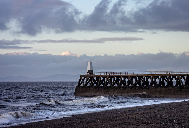 Photo of another view of Maryport pier on the same day