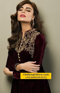 Latest Party Wear Velvet Collection 2016-2017 by Zainab Chottani