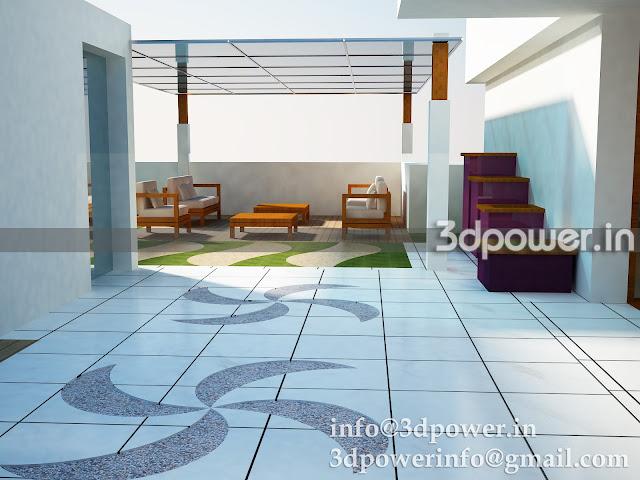 """""""3d view of terrace garden"""""""