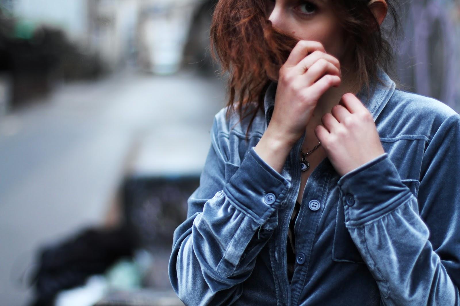 trend fashion velvet shirt zaful