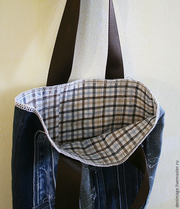 how to sew a stylish bag from old jeans. DIY Tutorial