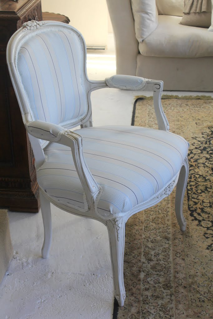 French Louis Chair White Bonded Leather Office Lilyfield Life Easy Upholstering Of A Upholstery How To Diy