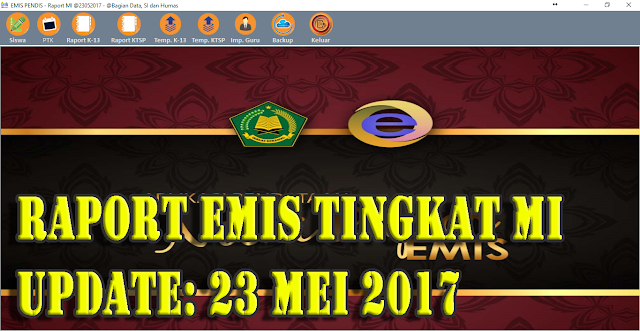 Download Aplikasi Nilai Raport EMIS Tingakat MI Update Terbaru