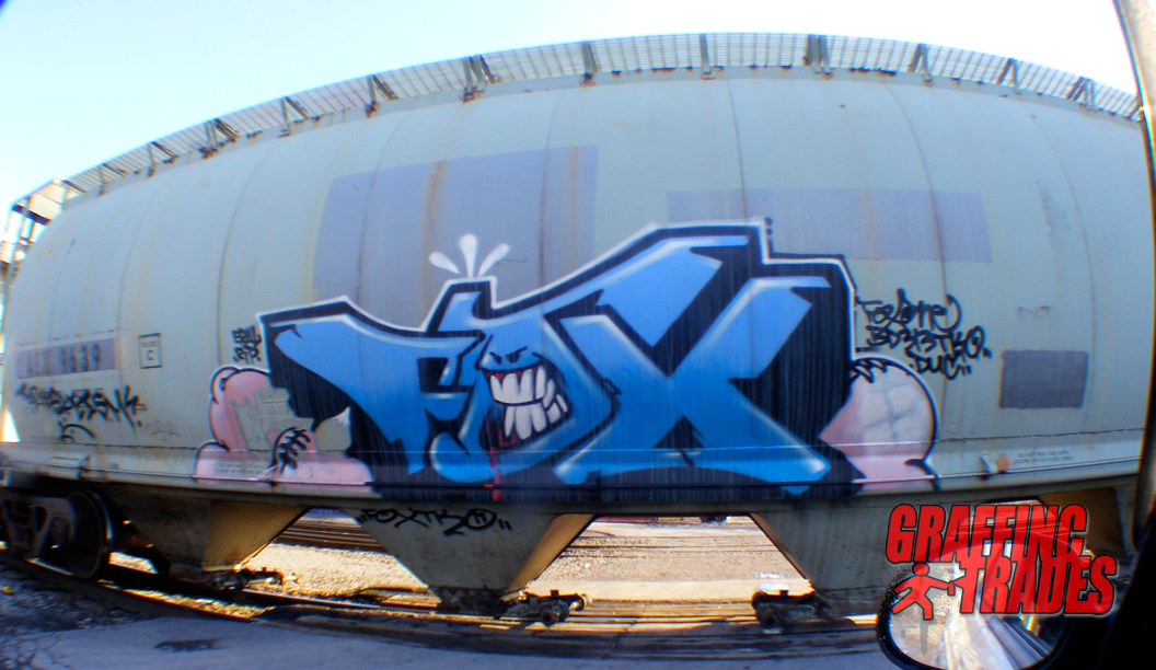 Graffiti freight car