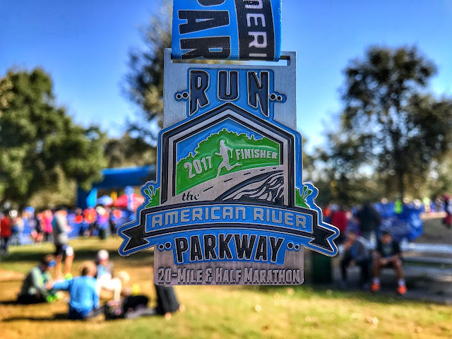 2017 finisher's medal Run the Parkway 20 miler
