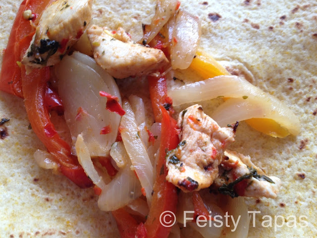 Recipe: Chicken fajitas with the help of the Thermomix, food processor, blender or hand