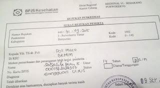 contoh surat rujukan bpjs dari puskesmas ke rumah sakit