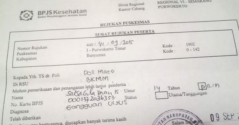 Syarat Meminta Surat Rujukan Bpjs Dari Puskesmas Ke Rumah