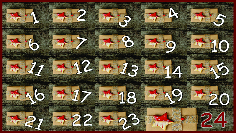Calendário numerado