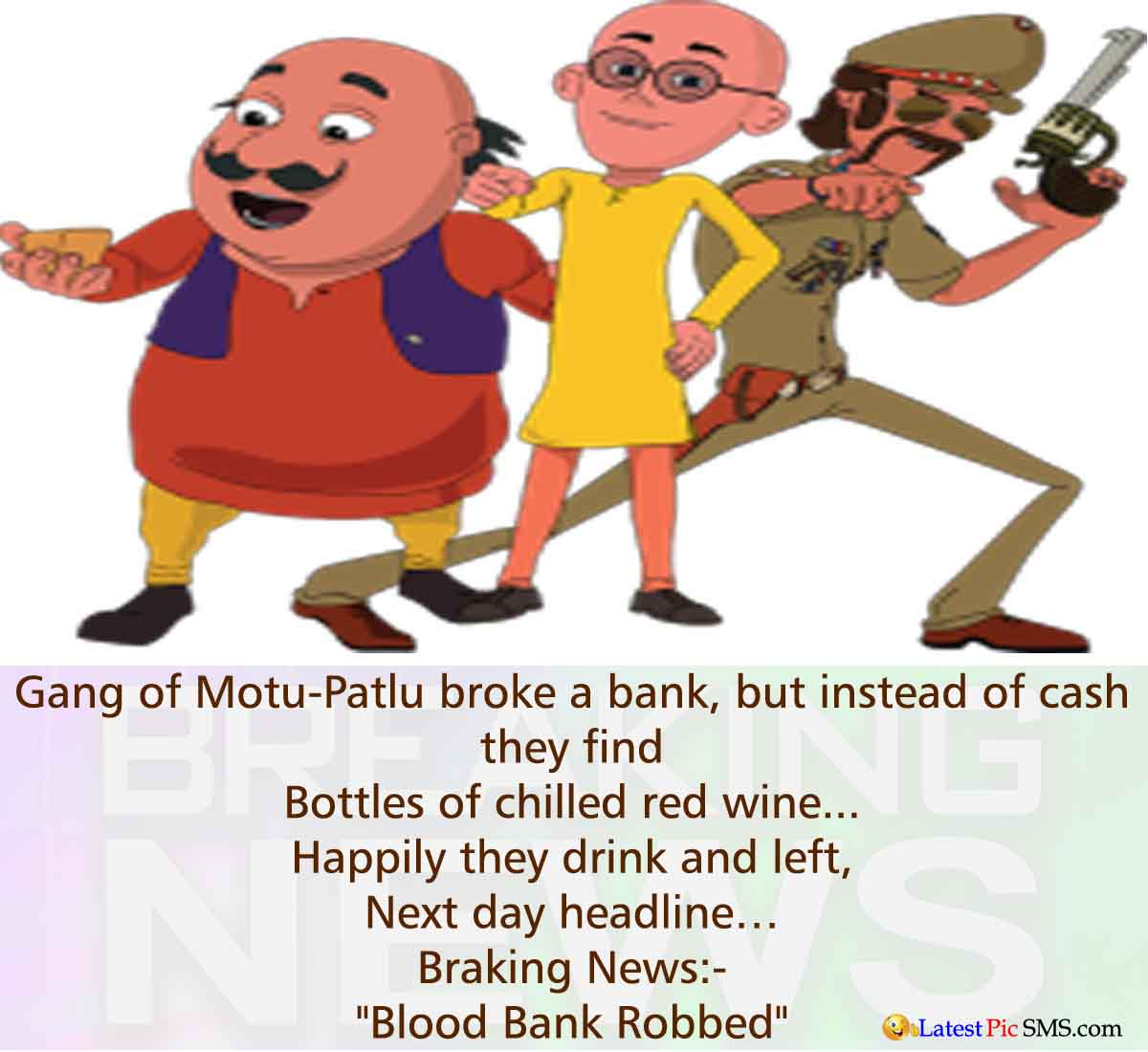 motu patlu bank jokes - Funny Bank Jokes Photos for Whatsapp and Facebook