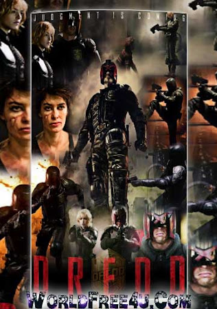 Poster Of Dredd In Dual Audio Hindi English 300MB Compressed Small Size Pc Movie Free Download Only At worldfree4u.com