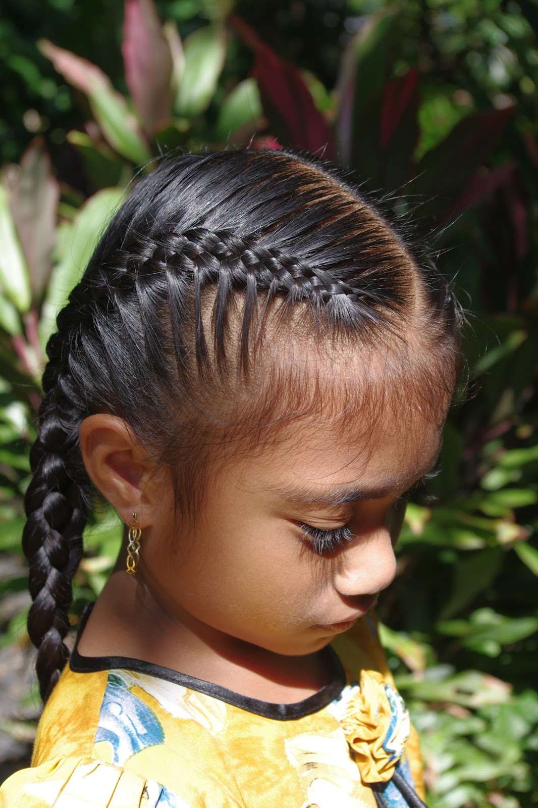 Incredible Braids Amp Hairstyles For Super Long Hair Micronesian Girl Double Hairstyle Inspiration Daily Dogsangcom