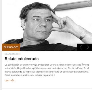 Relato Oculto, Víctor Hugo Morales, semanario Brecha