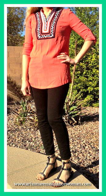 February 2016 Stitch Fix Review - THML Alasia Embroidery Detail Tunic