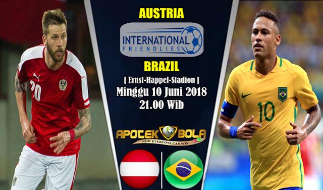 Prediksi Austria vs Brazil 10 Juni 2018