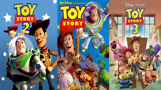 posters oficiales de la saga toy story
