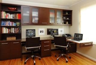 contoh desain ruang kerja minimalis dan elegan