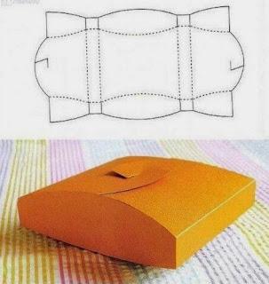 Geometrik Şekillerde Hediye Paketi Yapımı, Resimli Açıklamalı 1