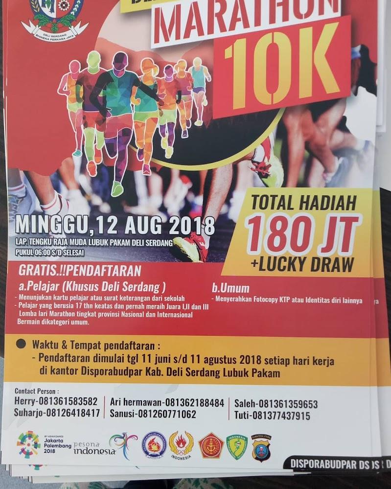 Deli Serdang Marathon 10K • 2018