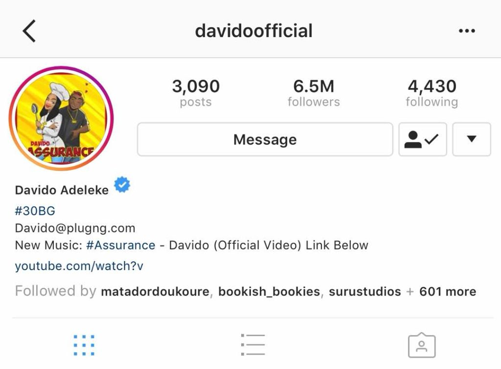 Davido, Tiwa Savage unfollows each other on Instagram - Bofem NG