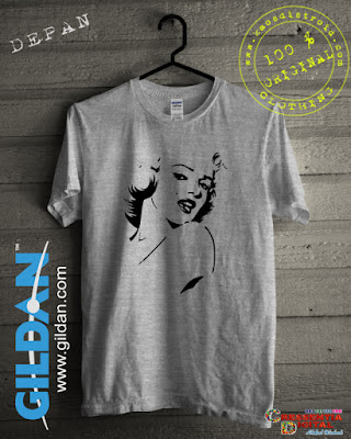 Baju Kaos Distro Marilyn Monroe Warna Grey