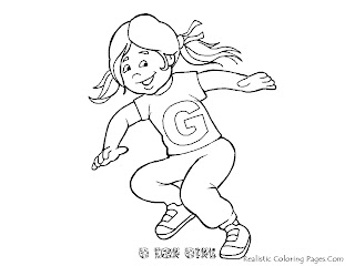 Alphabet Coloring Pages G For GIRL