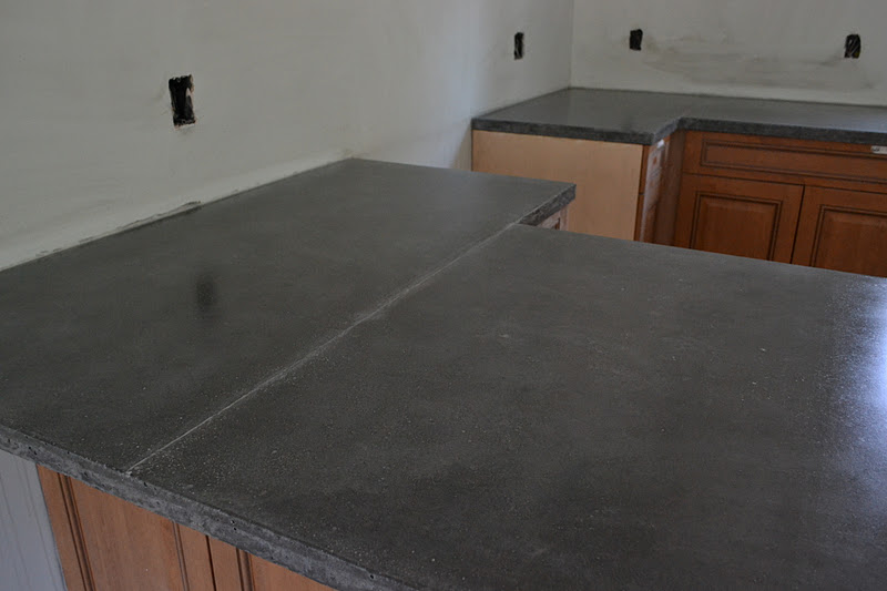 A Work In Progress Concrete Counters Part 5 The Reveal