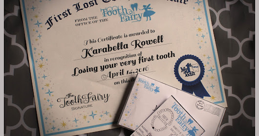 Tooth Fairy Visits and Printable