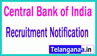 CBI (Central Bank of India) Recruitment Notification