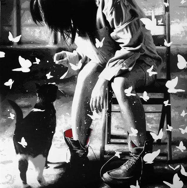 "French Figurative painter-""Nathalie Mulero Fougeras"" 1970"