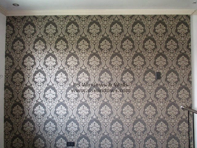 Installed Patterned Wallpaper For Loft Room at Pilar Village, Las Piñas Metro Manila