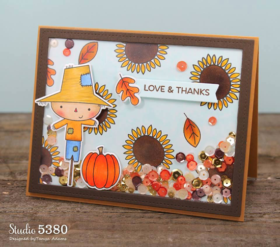 Fall Friends stamp set and Die-namics and Single Stitch Line Rectangle Frames Die-namics - Tanya Adams #mftstamps