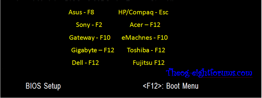 Boot+menu+for+different+model