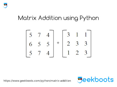 https://www.geekboots.com/python/matrix-addition