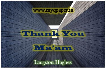 Download WB Class 12 English Notes | Thank You Ma'am| Langston