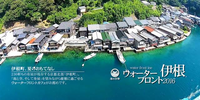 建物と海が繋がった珍しい建築、舟屋、観光