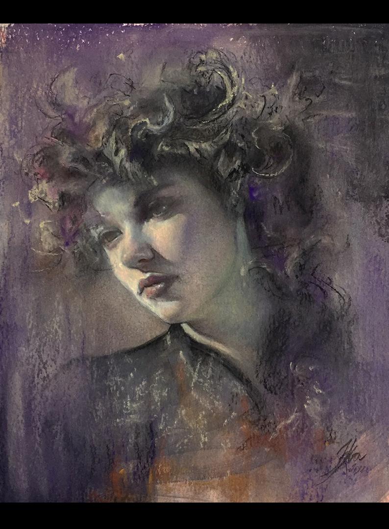 Iva K, pastel portrait
