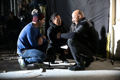 Vin Diesel, Donnie Yen and D.J. Caruso on the set of xXx: Return of Xander Cage (15)